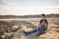 Samuel- A senior session at The Falls of the Ohio